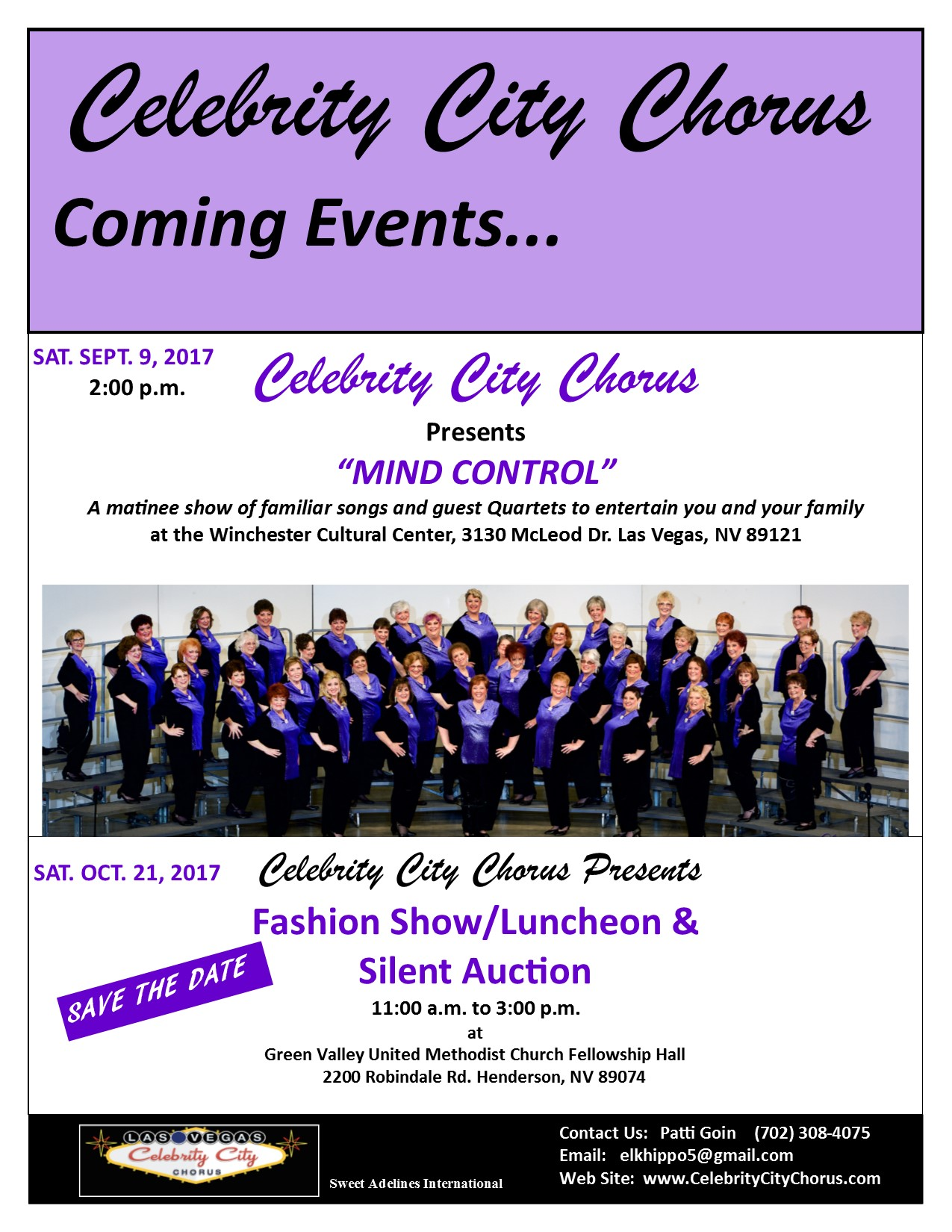 User account | Celebrity City Chorus